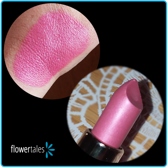 prova colore mica rosa pink different Flower Tales per lipstick e altre ricette di bio make-up faidate