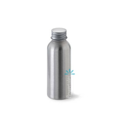 Brushed Aluminium bottle and cap
