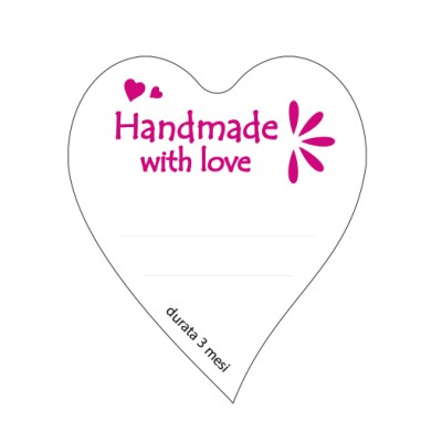 "paper labels ""handmade with love"""