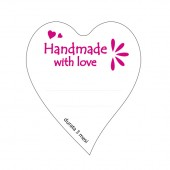 "etichette in carta ""handmade with love"""