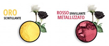 mica oro e rosso metallizzato Flower Tales