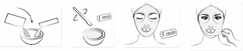 maschera peel-off agli alginati